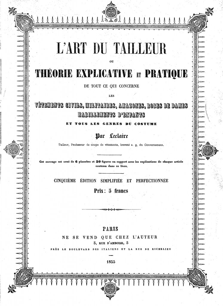 Traje de caballero de 1855